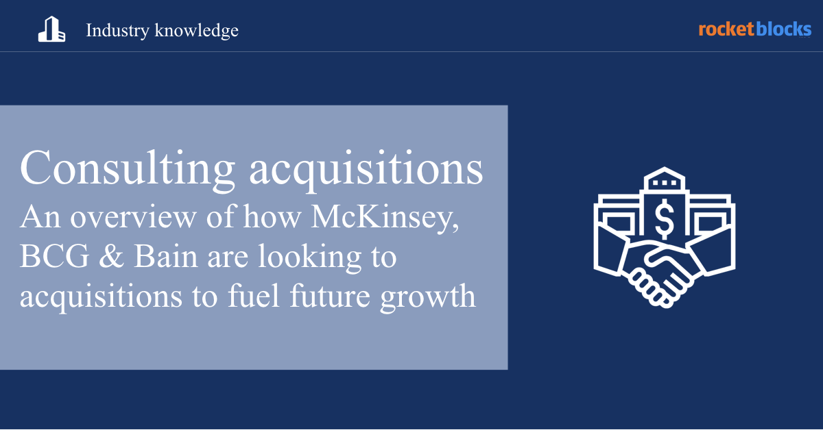 An overview of how McKinsey, BCG and Bain are fueling growth with acquisitions