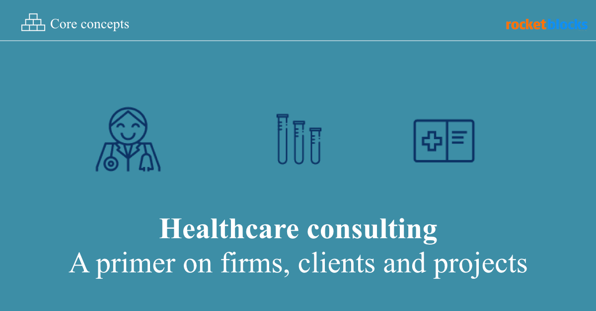 Healthcare consulting overview: a primer on firms, clients and projects